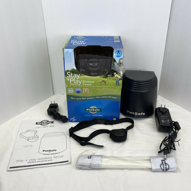PetSafe Stay & Play Compact Wireless Fence PIF00-12917 Dog Open Box New 3/4 Acre