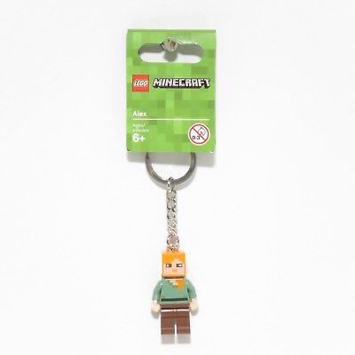 Lego Minecraft Alex Minifigure Keychain 853819 - Brand New