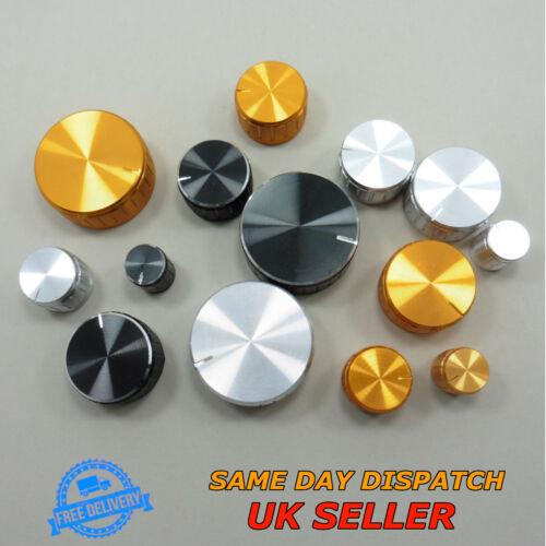 Aluminum Sound Control Rotary Switch Knob 6mm for Potentiometer Volume Cap