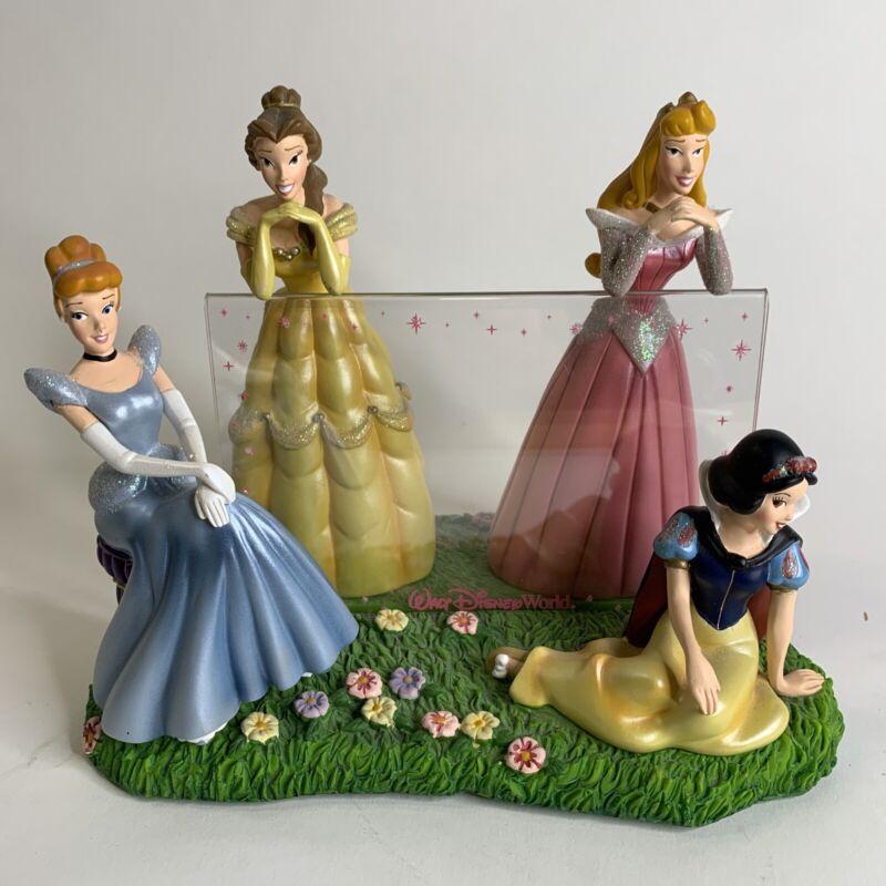 Disney Cinderella Belle Sleeping Beauty Snow White FIGURINE Photo Frame Holder