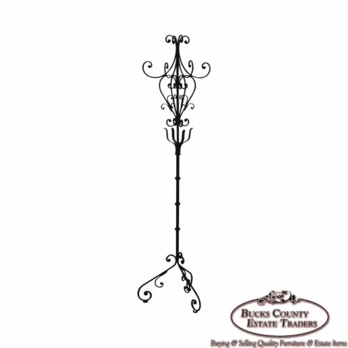 Custom Iron Victorian Style Coat Rack Hall Tree