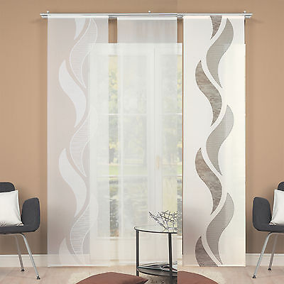 waves voile panel curtains room divider home wohnideen schmidtgard