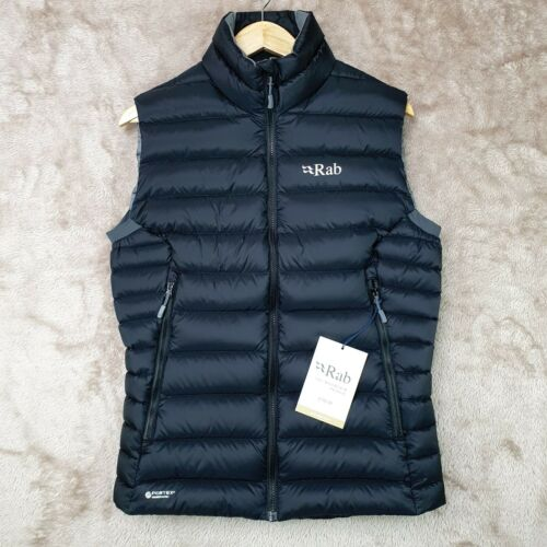 RAB Mens Electron Down Jacket Vest/Gilet 800 FP | Small | Black | BNWT RRP £150