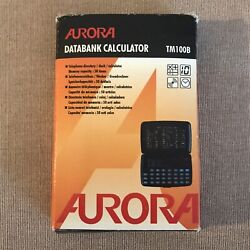 Aurora Data Bank TM100 Telephone Directory Organizer, Calculator & Clock