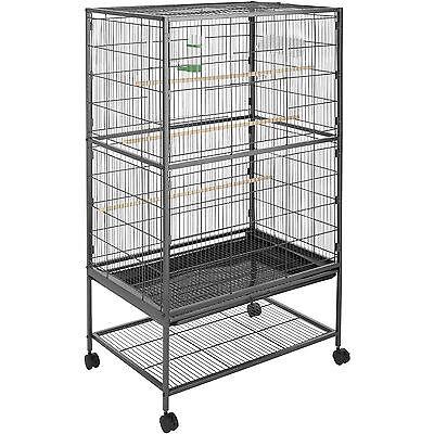 Gabbia per uccelli voliera casetta casa a ruoli cage animali XL 131x78x52 cm