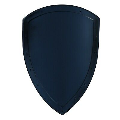 14th Century Medieval Functional Historical Replica Solid Black Heater Shield