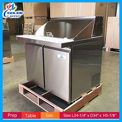 36 Prep Table Sandwich Salad Pizza Mobile Refrigerator Nsf Cooler Depot