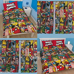 Marvel Comics Defenders Single Double Duvet And Matching Curtains Set Avengers Ebay