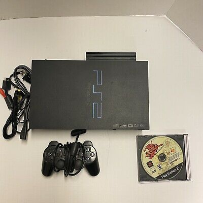 Sony PlayStation 2 Fat Console Bundle 1 Controller 5 Games Ps2 Tested Free Ship