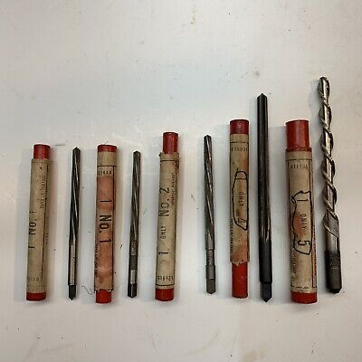 Cleveland Twist Drill Co. Hs. Spiral Fluted Taper Pin Reamer Set Of 5  Used