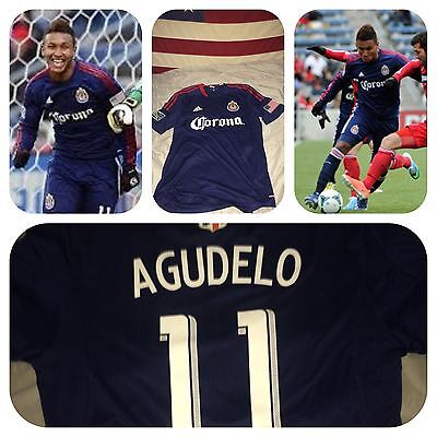 Adidas Chivas USA Player Issued Match Worn 2014 #11 Agudelo Soccer Jersey L image