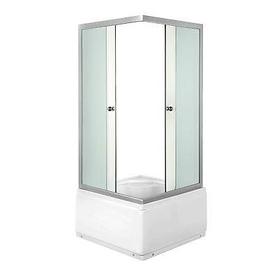 Duschkabine 90 x 90 cm Fertigdusche Dusche Duschwand DUSCHTEMPEL mit Sitz NEU