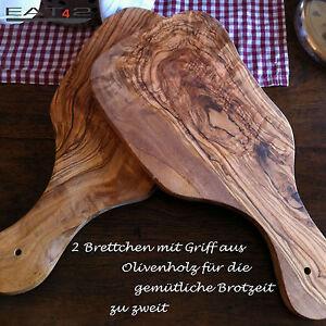 2x-Tagliere-in-legno-di-ulivo-Tavola-per-colazione-ca-25cm