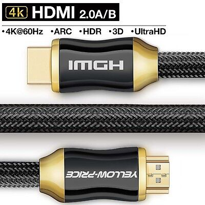 4K HDMI Cable 3/6/10/15/25ft (4K UHD-HDMI 2.0)-BEST Quality 28AWG -Braided