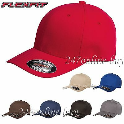 Flexfit V-Flexfit Cotton Twill Fitted Baseball Blank Plain Hat Original Cap 5001 Twill-fitted Cap