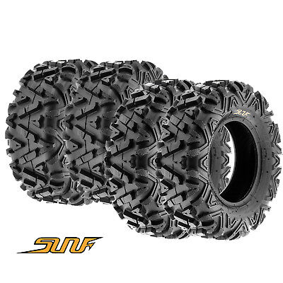 25  Sunf Atv   Utv Tires Full Complete Set Of 4   25X8 12  25X10 12 6 Ply A033
