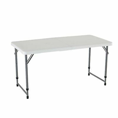 Lifetime 4 Foot Adjustable 4428 Height Folding Utility Craft Table -- New