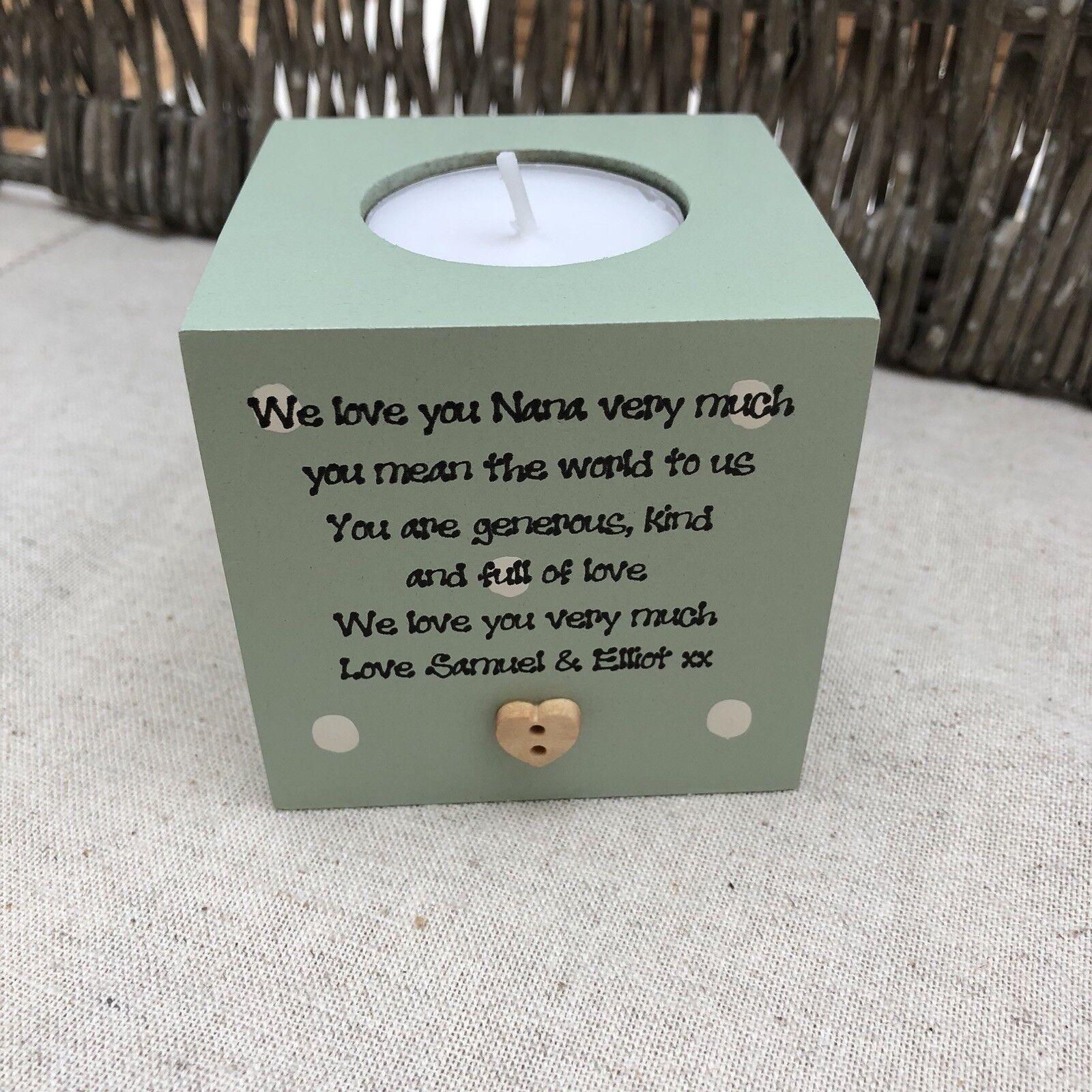 Shabby Personalised Chic Nanny Nana Nanna Nan Granny Grandma Gran Candle Gift.. - 332934734332