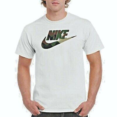 NIKE CAMO T-shirt, Nike logo on white T,