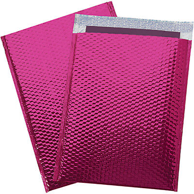 500 000 Glamor Metallic Pink Poly Bubble Mailers Envelopes Bags 4x8 Extra Wide
