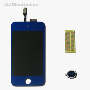 iPod Touch 4th Gen Blue LCD Touch Screen Glass Digitizer Assembly 4G iTouch