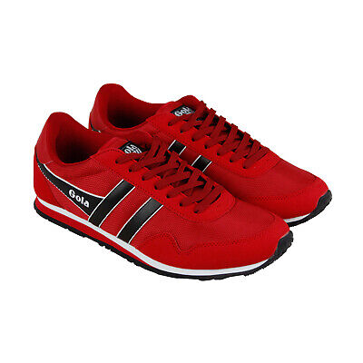Gola Monaco Ballistic Mens Red Nylon Low Top Lace Up Sneakers Shoes