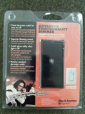 (10) Pass & Seymour Advanced Mechanical Dimmer Black Decorator Switch D600-EBKV