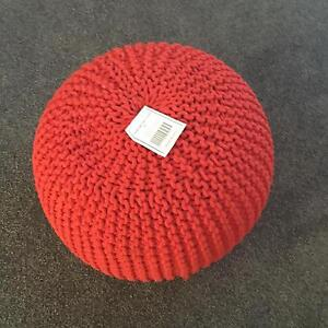 Ottoman NEW Sawyer Cable Knit Red Dubbo Dubbo Area Preview