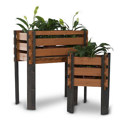 Wooden Garden Flower Planter Box Rustic Designed Yard Outdoor Decor - Multi Size