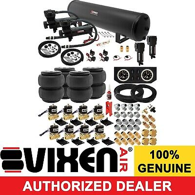 Air Suspension Kit for Truck/Car Bag/Ride/Lift/Spring Dual Compressor, 5G Tank