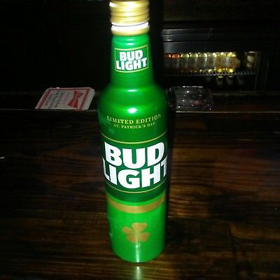 Rare Bud Light St Patricks Edition Aluminum Bottle  Beer Can Cans