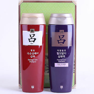 New KOREA AMOREPACIFIC Ryo Hair Loss Prevention Damage Care shampoo 180ml x2pc