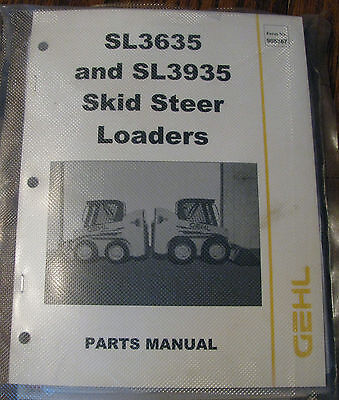 New Gehl Sl3935 Sl3635 Skid Steer Loader Parts Catalog Yanmar Engine Om