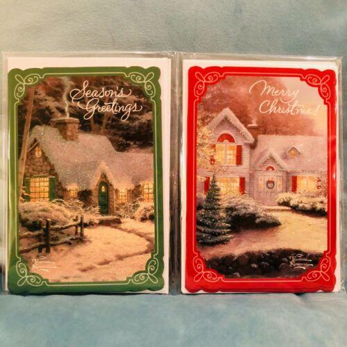 NEW Christmas Holiday Cards Thomas Kinkade 6 Cards with 6 Envelopes Navidad XMAS