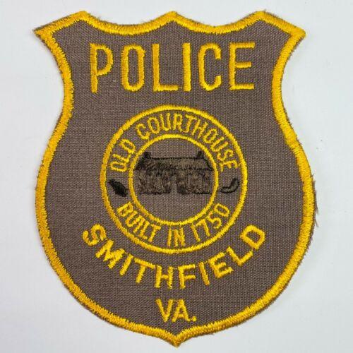 Smithfield Police Isle of Wight County Virginia VA Vintage Patch (B2)