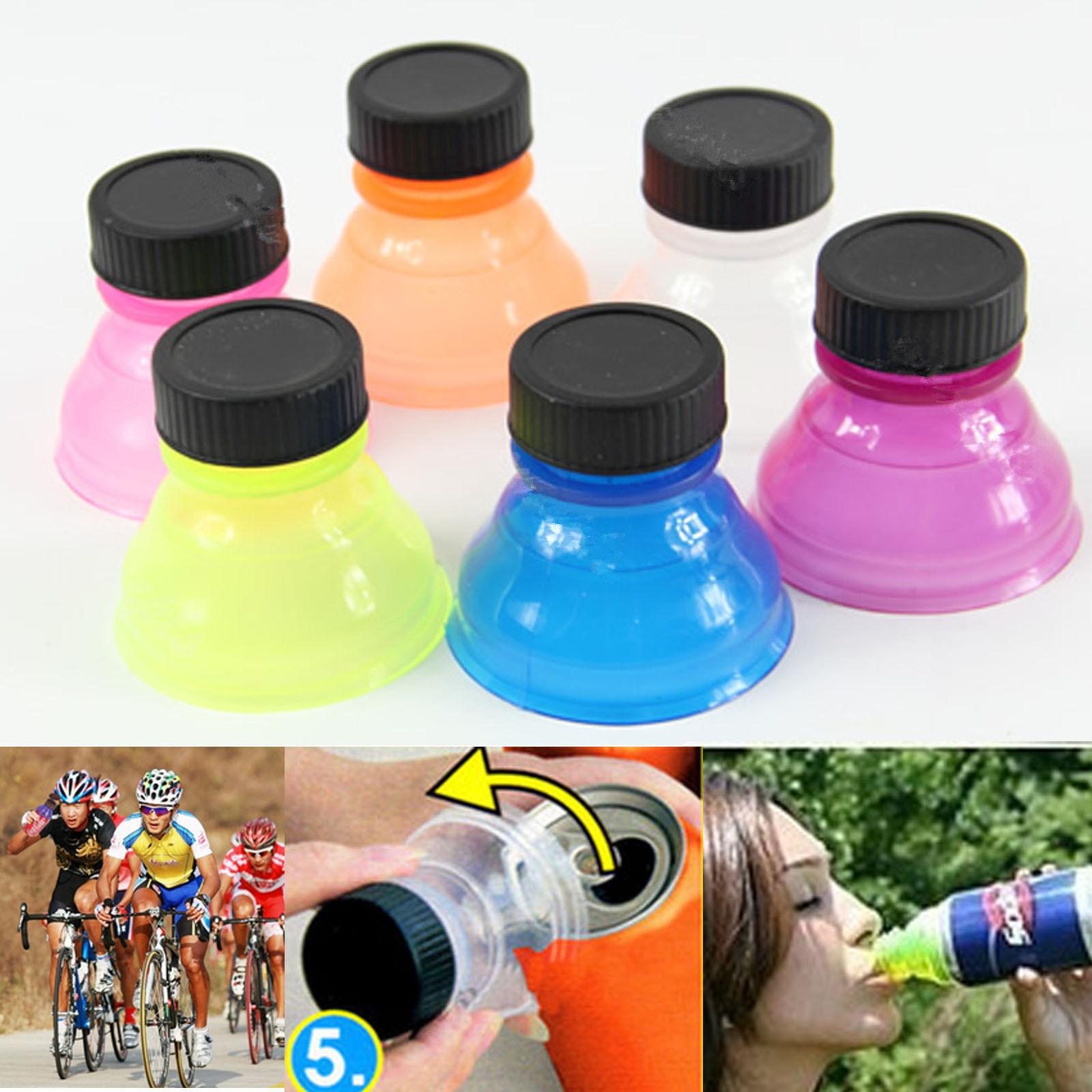 6PCS Snappy Caps Snap Bottle Top Can Covers Fizz Coke Drink Soda Lid Cap Reuse