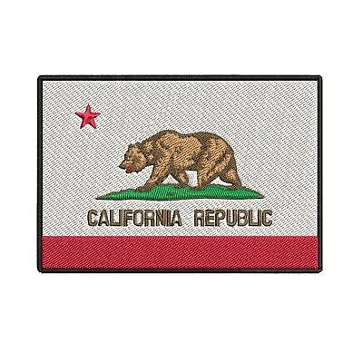 California Cali State Republic Flag Embroidered Iron or Sew On Patch
