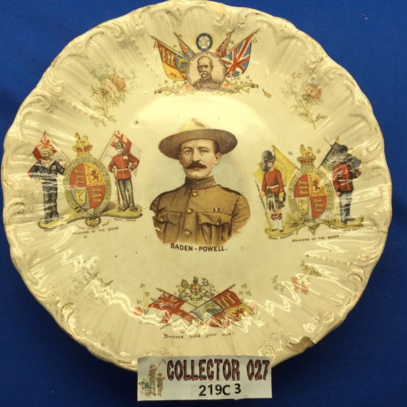 Boy Scout Vintage Baden Powell Plate British General Soldiers Of The Queen