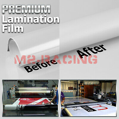 12x60 Cold Laminating Film Matte Clear Monomeric Lamination Poster Sign Decal