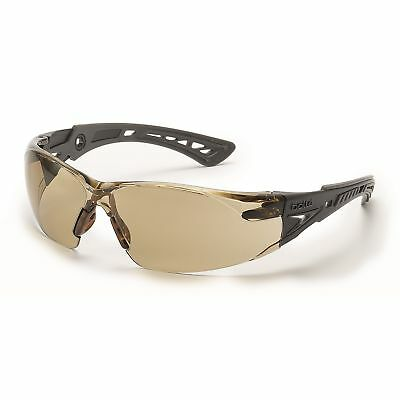 Bolle Rush Safety Glasses With Clear Csp Anti-fog Lens Blackgrey Temples