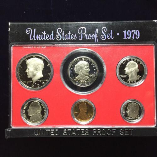 1979 US Mint Proof Type I Set 6 Piece Clad Set OGP
