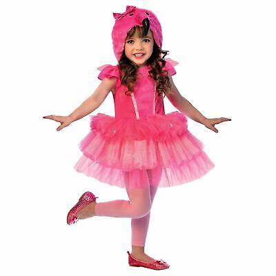Mädchen Kapuzen Flamingo Kostüm Tutu Kleid Pink Tier Buch Tag Vogel Kinder