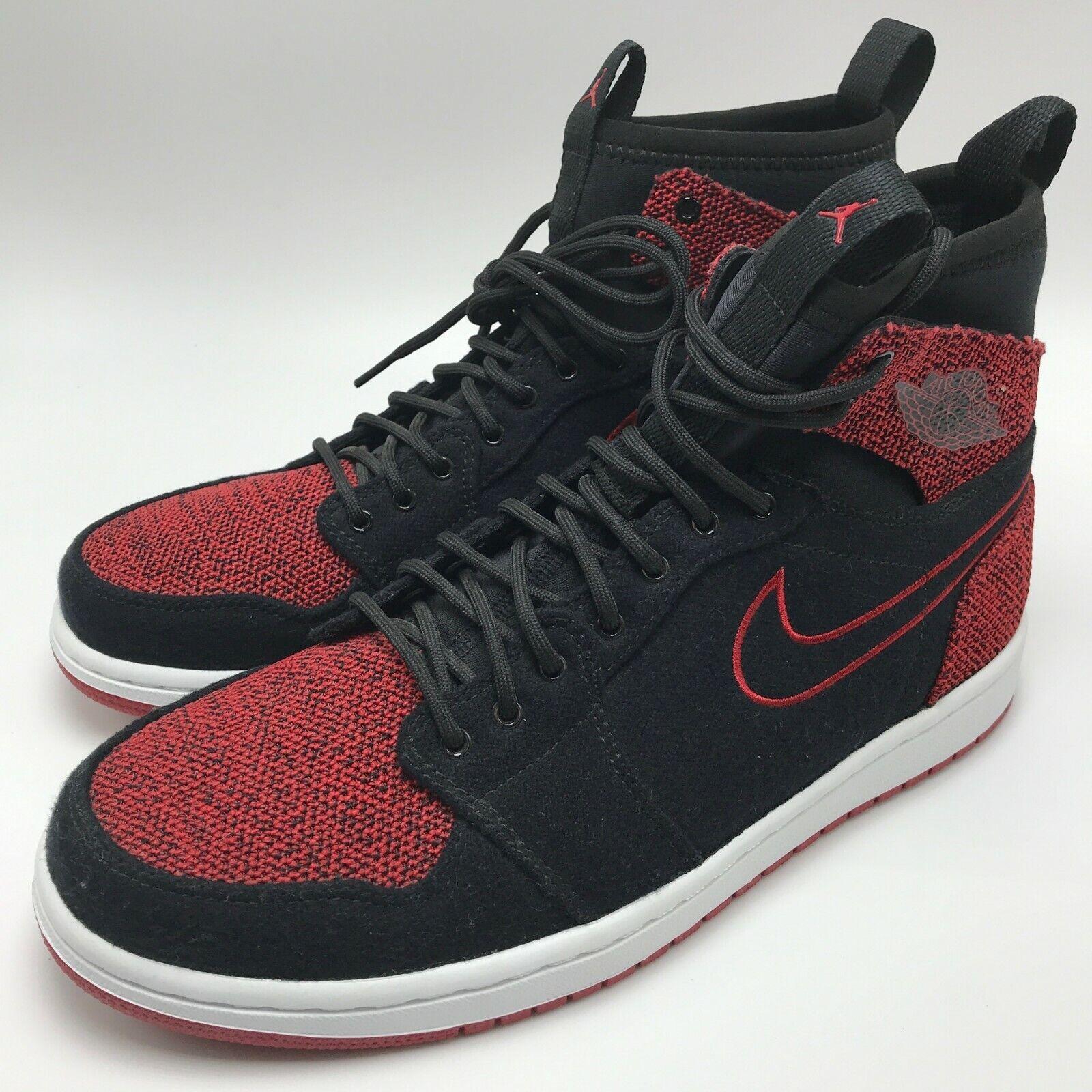 new arrival d14d0 44f05 Nike Air Jordan 1 Retro Ultra High Men's Shoes Black/Gym Red-White  844700-001