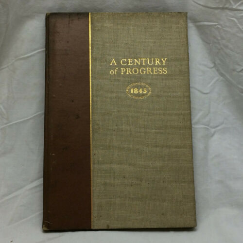 Vintage 1945 Book A Century of Progress History of National City Bank Cleveland