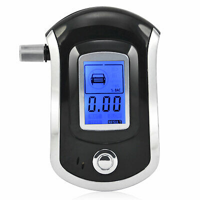 Police Breath Alcohol Tester Digital LCD Breathalyzer Blood Alcohol Detector US