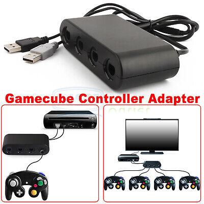 gamecube controller adapter 4 port for nintendo