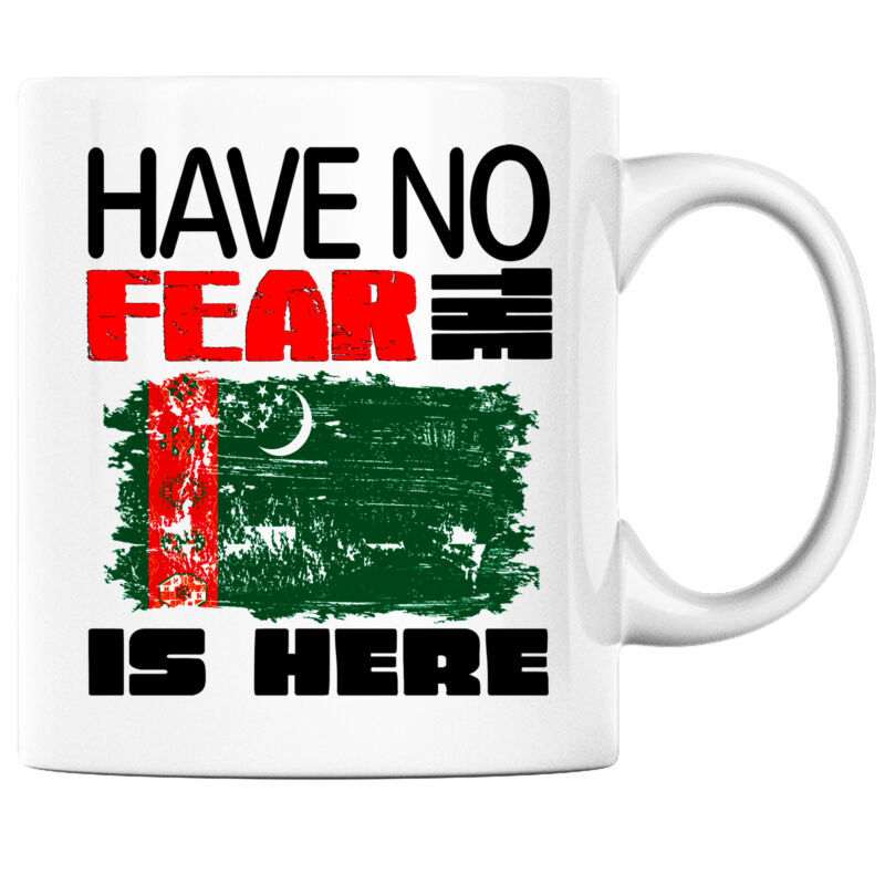 Have No Fear the Turkmen is Here Funny Coffee Mug Turkmenistan Heritage Pride