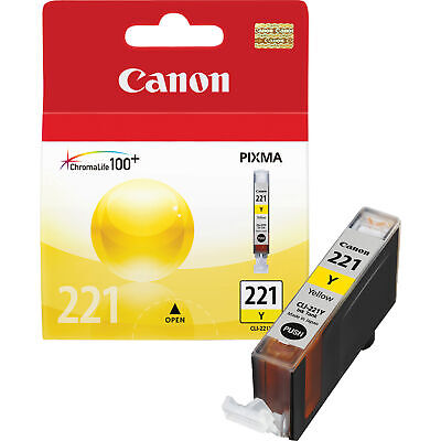 Genuine Canon CLI-221Y 221Yellow Ink Tank  ( 4549B001) Genuine Yellow Ink Tank