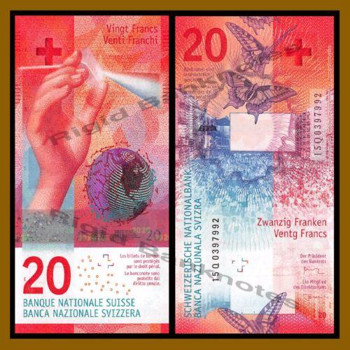 Switzerland 20 Francs, 2015 (2017) P-76 Hybrid Polymer Swiss National Bank Unc