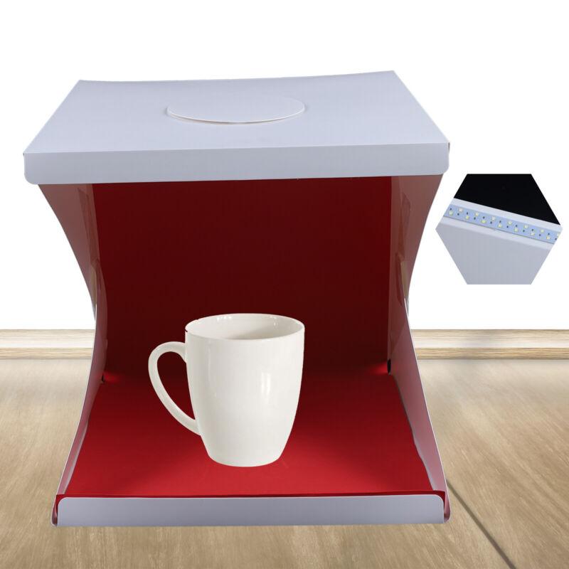 """LED Light Room Photo Studio 16"""" Photography Lighting Tent Kit Mini Cube Box"""